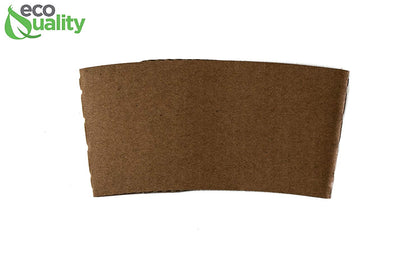 1000 Pack Hot Cup Sleeves - Corrugated Coffee Cup Sleeves - Protective Corrugated Disposable Paper Cup Jackets - Fits most 10oz, 12oz, 16oz, 20oz - 100% Recyclable