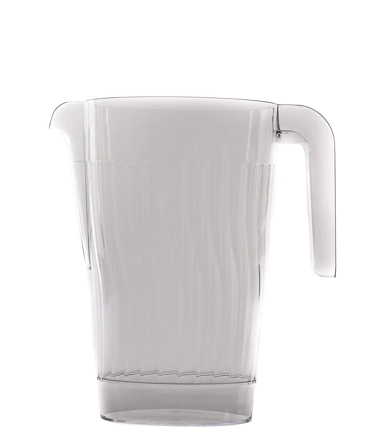 Crystal Clear Plastic Beverage Pitcher