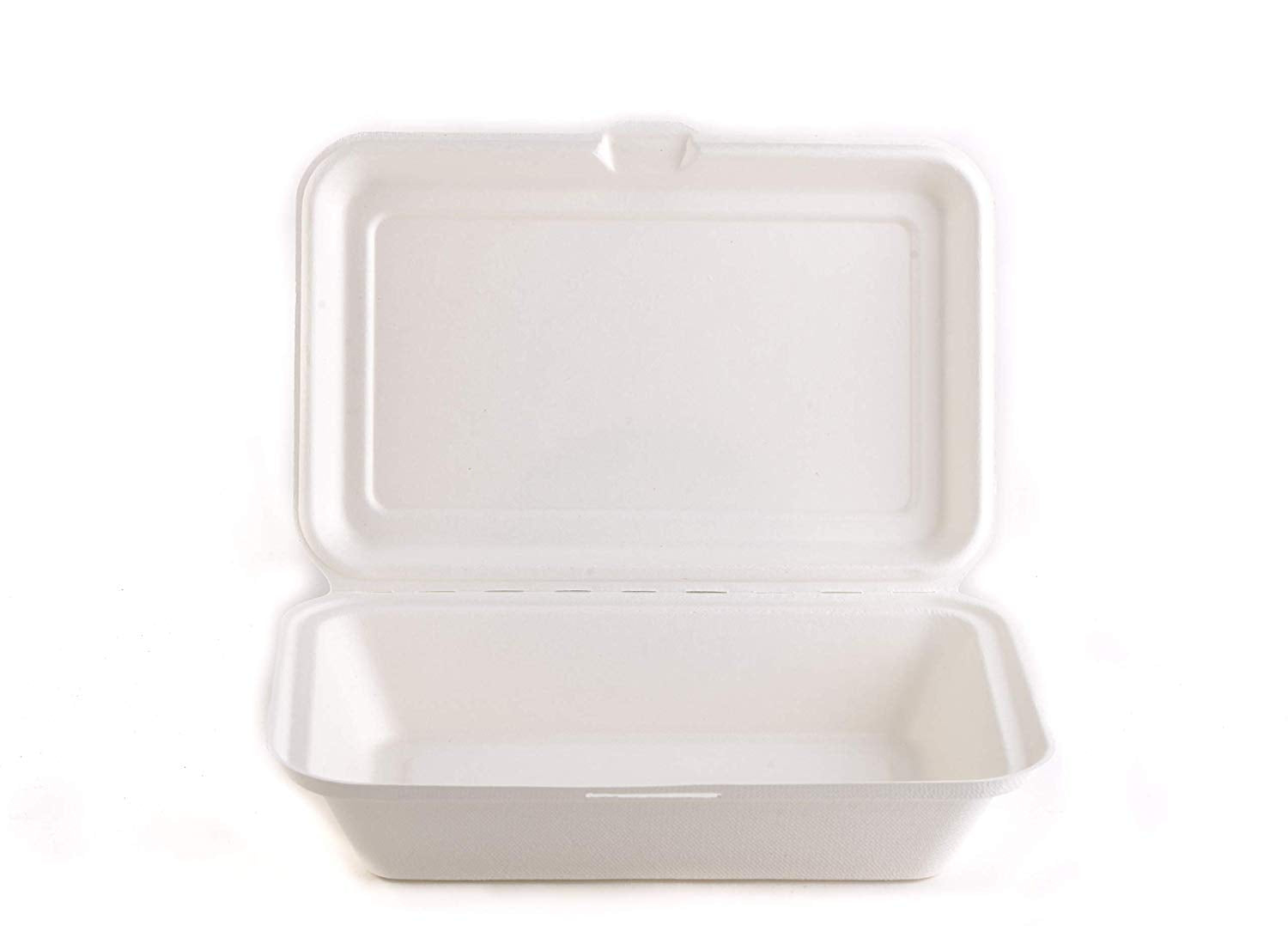 Biodegradable Take Out Food Containers with Clamshell Hinged Lid