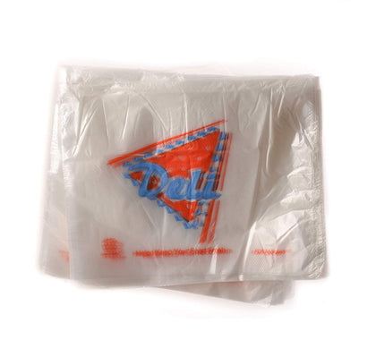 Clear Plastic Deli Saddle Bags with Printed Logo