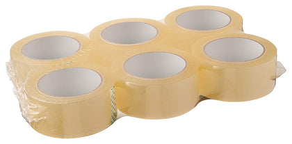 [6 Pack] Clear Packaging Shipping Tape 2 Inches x 110 YDS (330 FT) 2 Mil Thick
