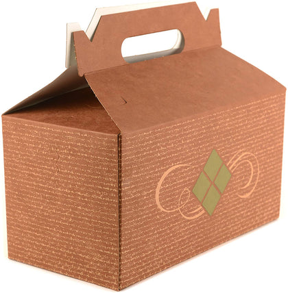 [ 450 Pack ] Brown Treat Gift Boxes - 9 x 5 x 6.75 inches