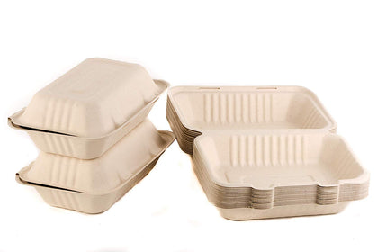 Compostable Clam Shell Take Out Food Container