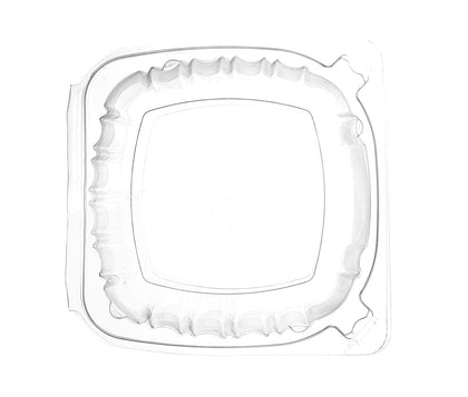 [150 Pack] 6x6 Clear Plastic Clam Shell Take Out Food Container