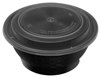 Meal Prep Containers [50 Pack] Round Bowls with Lids
