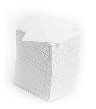 EcoQuality Low Fold Dispenser Napkins, 1-Ply, 3 1/2 x 5, White 400/pk, Dispenser Napkin Refill