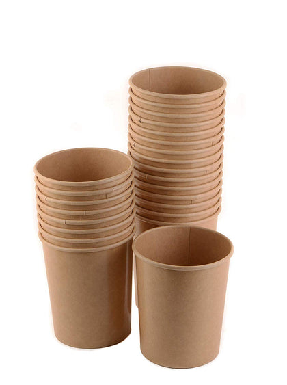 Disposable Kraft Paper Soup Containers