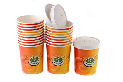 Disposable Paper Soup Containers with Lids Combo