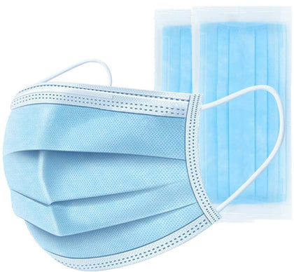 3 - PLY Face Masks with Soft Ear Loops - Non Medical / Non Surgical Masks
