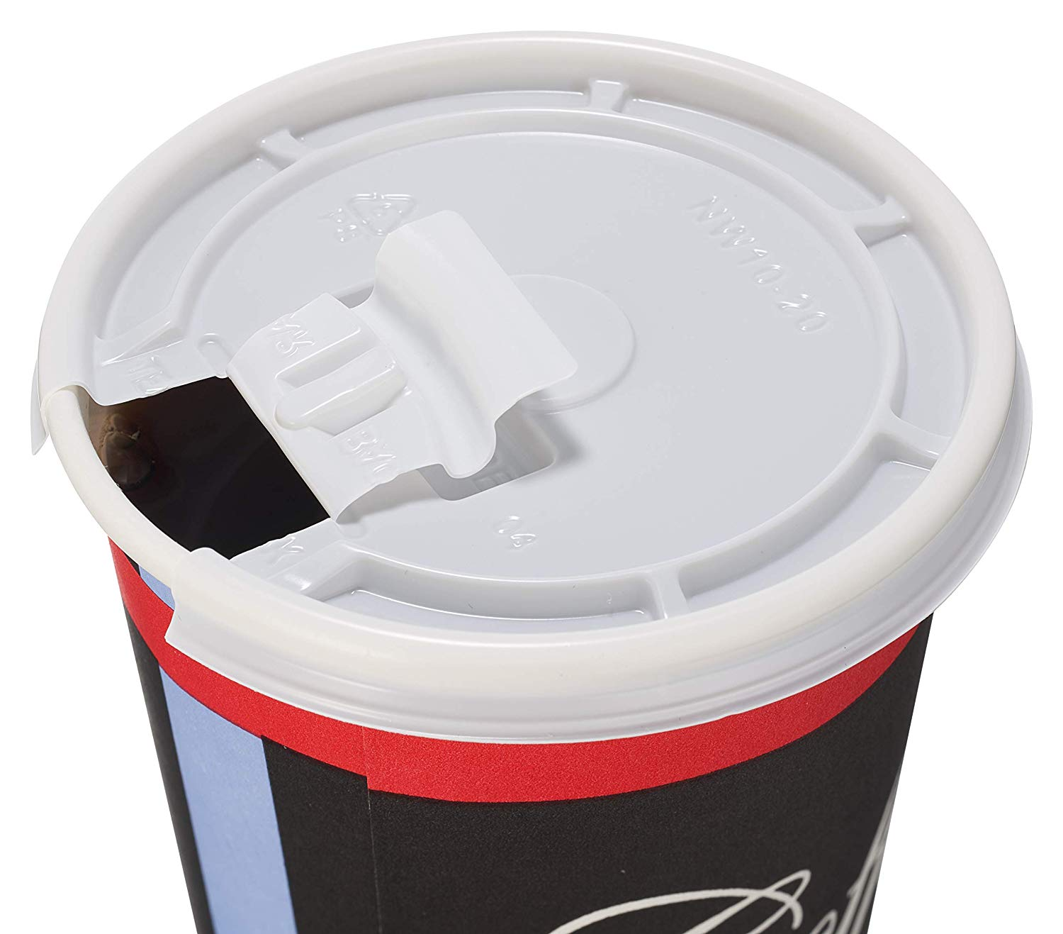 Classic Durable Disposable Paper Cups & White Lids by EcoQuality
