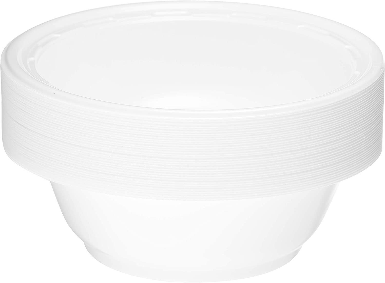 White Plastic High Impact Disposable Plastic Bowl
