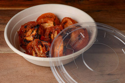 EcoQuality Round Disposable Bowls with Microwavable Lids