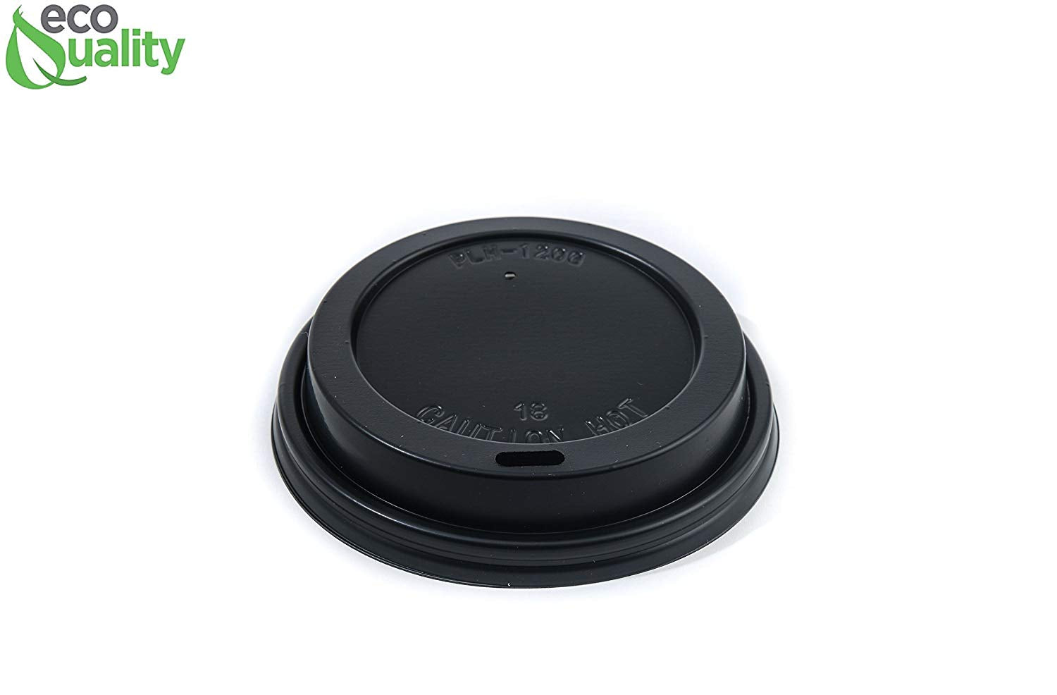 Disposable White Paper Coffee Cups with Black Dome Lids and Protective Corrugated Cup Sleeves