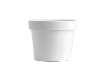 8oz White Paper Soup Containers - Half Pint Size Ice Cream Containers with Vented Lids - 500pcs