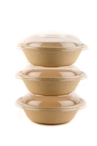 EcoQuality Round Disposable Bowls with Dome Lids