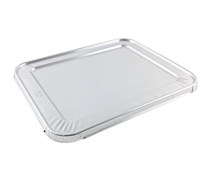 1/2 Size Foil Steam Table Pan Lid - 100/Case