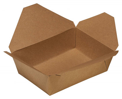 Disposable Paper Take Out Food Containers - Kraft To Go Containers