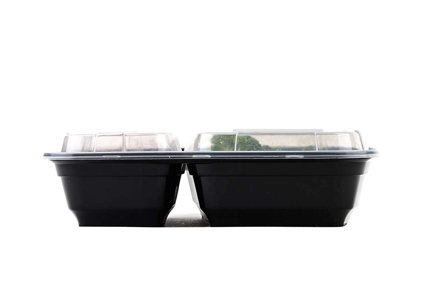 EcoQuality Meal Prep Containers, [300Pack][28oz] 2 Compartment with Lids.