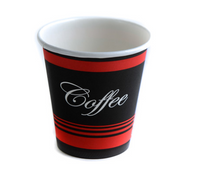 10 oz. Paper Hot Cup - EcoQuality Red - 1000/Case