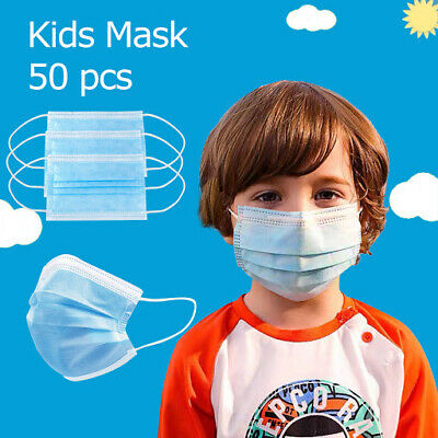 3-PLY Protective Earloop Face Masks for Kids with 6 random Colors Pink, Yellow Green Blue White, Kids Cartoon All in One Box 50/Case