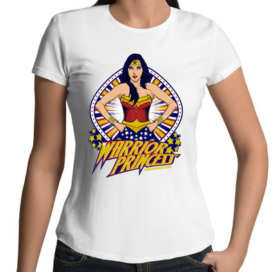 Warrior Princess - Womens Premium Crew T-Shirt