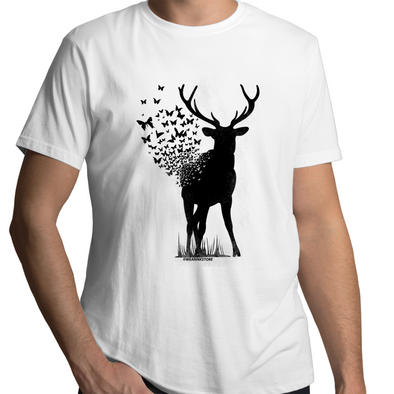 Deer Butterfly - Adults Premium T-Shirt