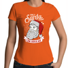 Only Santa can Judge Me - Womens Premium Crew T-Shirt