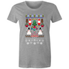Pixelated Christmas - Womens Premium Crew T-Shirt