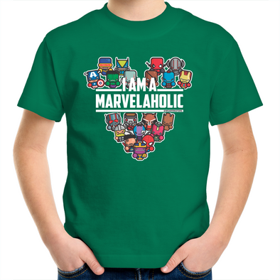 Marvelaholic -  Kids Youth T-Shirt