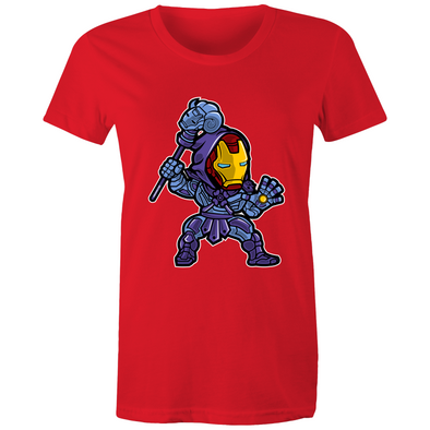 Iron Skeletor - Womens Crew T-Shirt