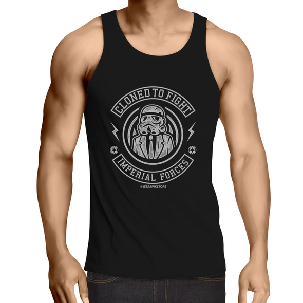 Cloned to Fight - Adults Premium Singlet Top