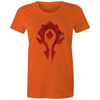 Warcraft Horde Tag - Womens Premium Crew T-Shirt