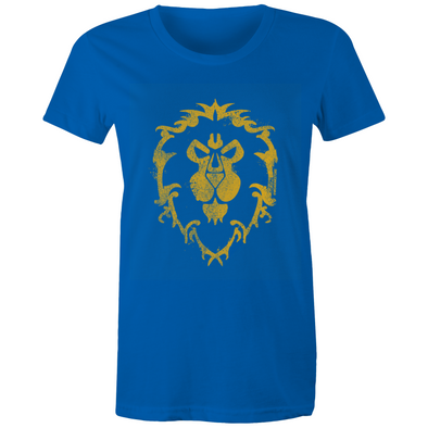 Warcraft Alliance Emblem - Womens Crew Premium T-Shirt