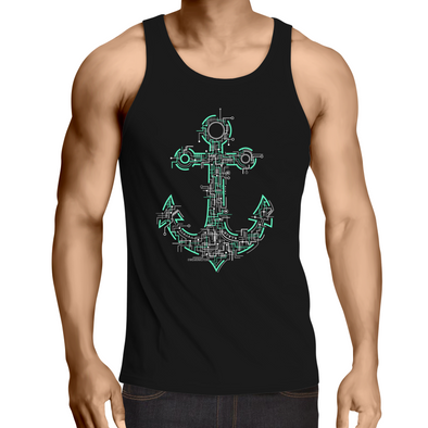 Electric Anchor - Adults Premium Singlet Top