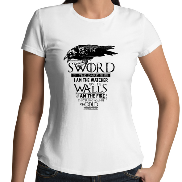 Nights Watch - Womens Premium Crew T-Shirt