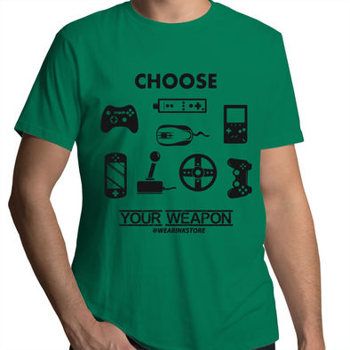 Choose Your Weapon - Adults Premium T-Shirt