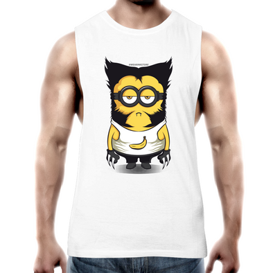 Minion Wolverine - Adults Premium Tank Top Tee