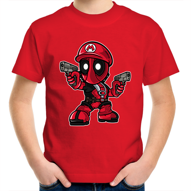 Mario Deadpool - Kids Youth Tees