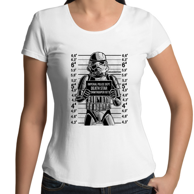 Trooper Mugshot - Womens Premium Scoop Neck T-Shirt