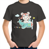 Flying Bear - Youth Crew T-Shirt