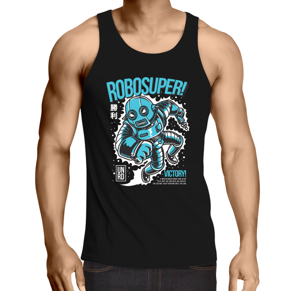 Robosurfer - Adults Premium Singlet Top