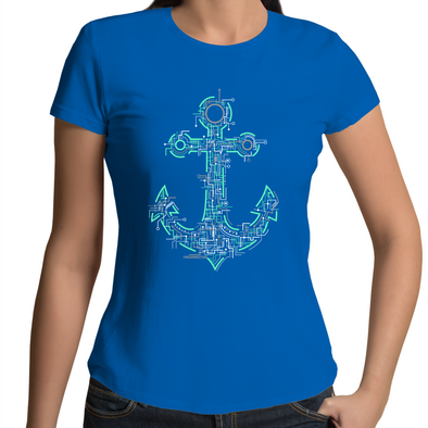 Electric Anchor - Womens Premium Crew T-Shirt