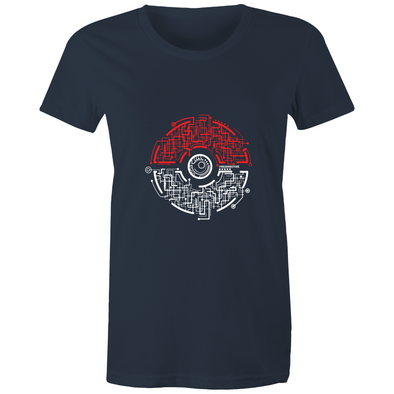 Electric Pokeball - Womens Crew T-Shirt