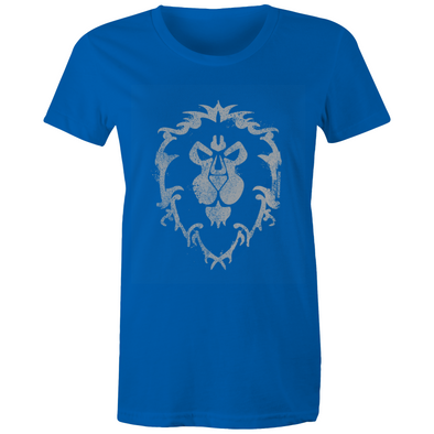 Warcraft Alliance White Emblem - Womens Crew Premium T-Shirt