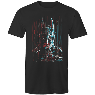 Batman in Rain - Adults Premium T-Shirt