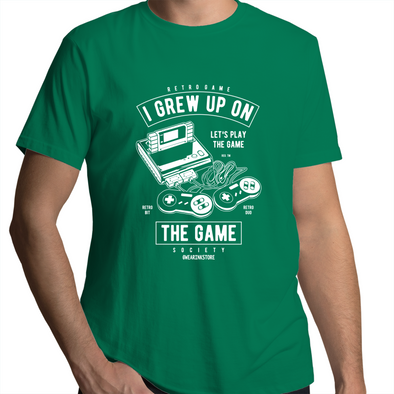 Grew Up on the Game - Adults Premium T-Shirt