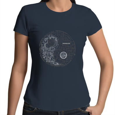 Electric Balance - Womens Premium Crew T-Shirt
