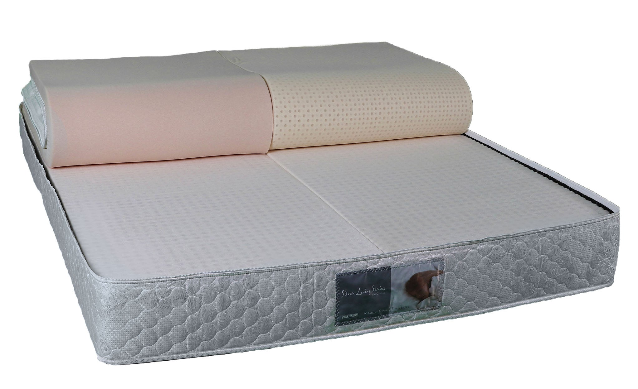 sterling silver lining mattress 4 levels of comfort for each sleeper