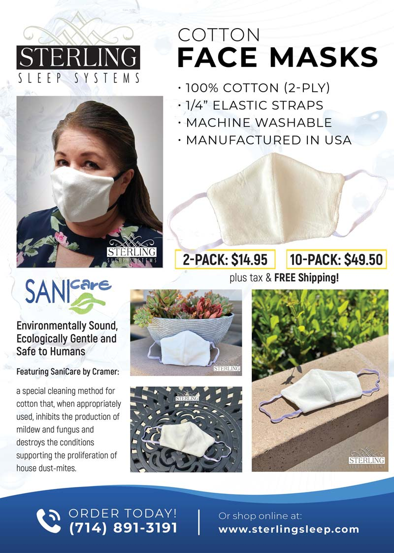 sterling cotton face mask