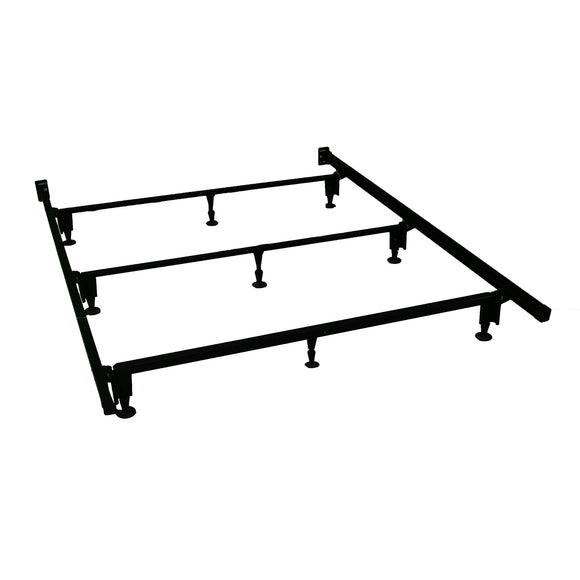 Heavy Duty 9-legged Metal Bed Frame, with Headboard Brackets